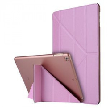 Чехол-книжка Silk Texture Horizontal Deformation iPad 8/7 10.2 (2019/2020) -розовый