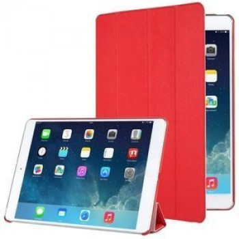 Чехол 4-folding Cross Texture Sleep / Wake-up  красный для iPad Air