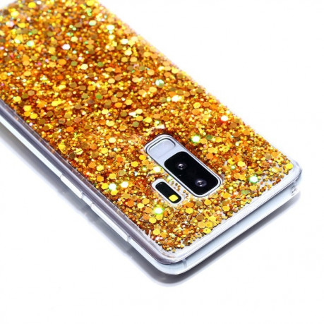 TPU чехол на Samsung Galaxy S9+/G965 Glitter Powder (Gold)