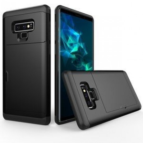 Противоударный чехол Shockproof Rugged Armor Protective Case на Samsung Galaxy Note 9 черный