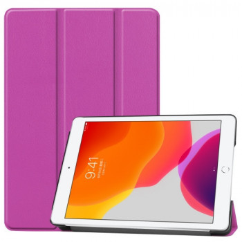 Чехол Custer Texture Three-folding Sleep/Wake-up на iPad 7 10.2 (2019) Фиолетовый