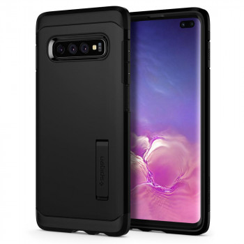 Оригинальный чехол Spigen Tough Armor для Samsung Galaxy S10+ Plus Black