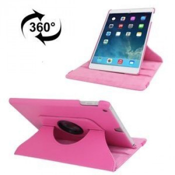 Кожаный Чехол 360 Degree Rotation Litchi Magenta для iPad 9.7 2017/2018