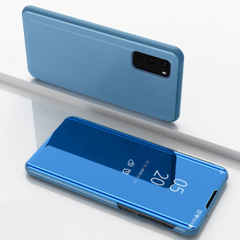 Чехол книжка Clear View на Samsung Galaxy S20 Electroplating Mirror-синий