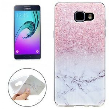 TPU Чехол Мрамор Marble Pink and Grey для Samsung Galaxy A3 (2016) / A310
