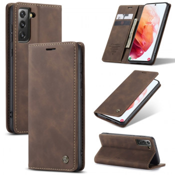 Чехол-книжка CaseMe-013 Multifunctional на Samsung Galaxy S21 Plus - кофейный