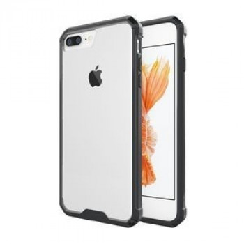 Прозрачный  чехол на iPhone 8 Plus / 7 Plus   Shockproof Acrylic + TPU Transparent Armor Protective Case (Black)