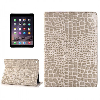 Кожаный Чехол Crocodile Texture Coffee для iPad Air 2