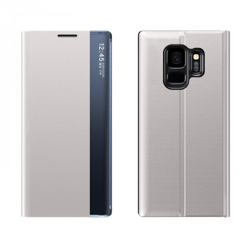 Чехол-книжка Clear View Standing Cover на Samsung Galaxy S9 Plus - серебристый