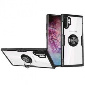 Ударозащитный чехол 360 Degree Magnetic Rotation Holder на Samsung Galaxy Note 10+ Plus- черный