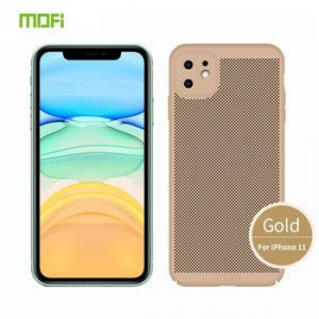 Ультратонкий чехол MOFI Breathable PC Ultra-thin All-inclusive на iPhone 11-золотой