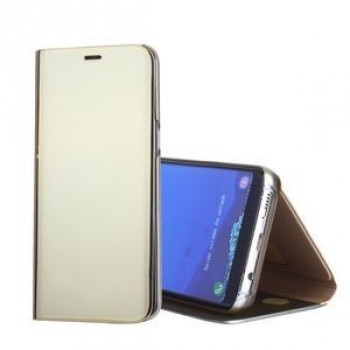 Чехол- книжка Clear View  на Samsung Galaxy S8+/G955 Electroplating Mirror-золотой