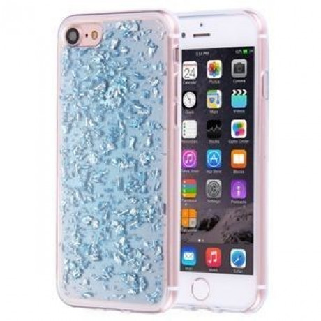 TPU Чехол Scattered Platinum Pattern Blue для iPhone 7/8