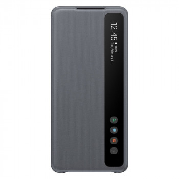 Оригинальный чехол-книжка Samsung Clear View Standing Cover для Samsung Galaxy S20 Plus grey (EF-ZG985CJEGRU)