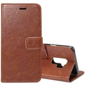 Кожаный чехол- книжка на Samsung Galaxy S9+/G965 Crazy Horse Texcture(Coffee)
