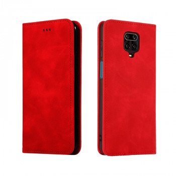 Чехол-книжка Retro Skin Feel Business Magnetic на Redmi Note 9 Pro / 9S / 9 Pro Max - красный