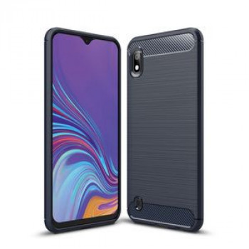 Чехол Brushed Texture Carbon Fiber на Samsung Galaxy A10-нави