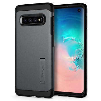 Оригинальный чехол Spigen Tough Armor для Samsung Galaxy S10 Graphite Grey