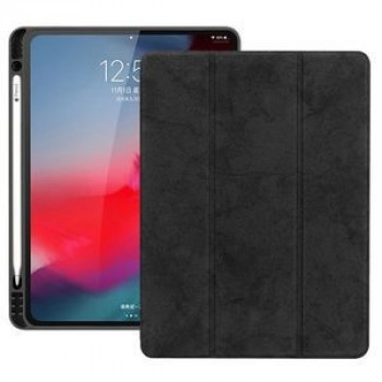 Чехол-книжка Three-folding Flip Magnetic Premium PU Leather на iPad Pro 11 inch 2018-черный