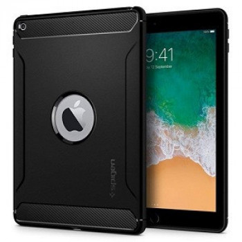 Чехол Spigen Rugged Armor case cover на iPad 9.7 2018 /  2017-черный