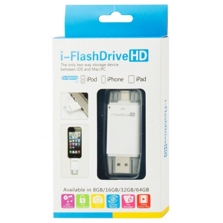 USB флешка  i-Flash Driver HD U Disk 32GB для iPhone, iPad, iPod touch