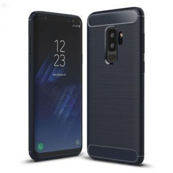 Противоударный чехол на Samsung Galaxy S9+/G965 Brushed Carbon Fiber Texture нави