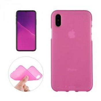 Чехол на iPhone X/Xs Solid Color Frosted пурпурно-красный