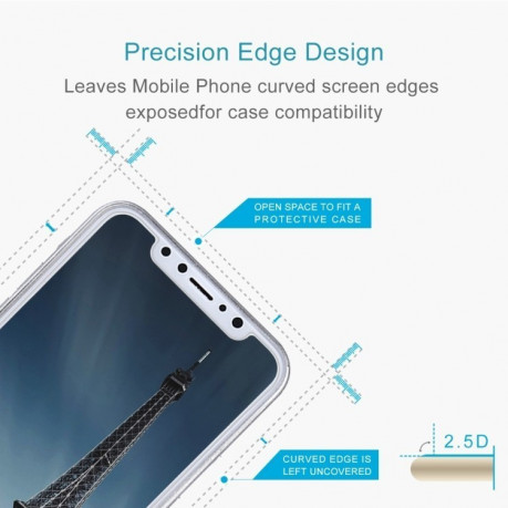 Защитное стекло 2.5D на  iPhone X/Xs 0.26mm 9H Surface Hardness