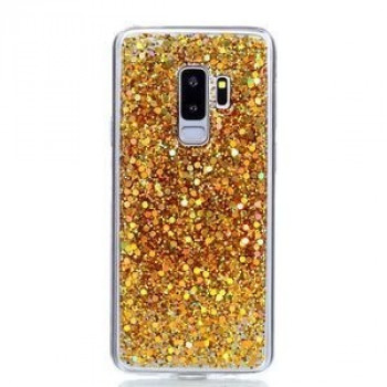 TPU чехол на Samsung Galaxy S9+/G965 Glitter Powder золотой