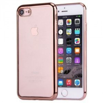 Прозрачный TPU Чехол Electroplating Rose Gold для iPhone 7/8