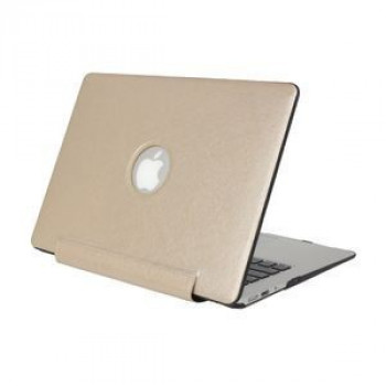 Нецарапающийся Чехол Silk Texture United PU Gold для Macbook Pro 15.4