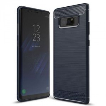 Противоударный чехол на Samsung Galaxy Note 8 Carbon Fiber TPU Brushed Texture  нави