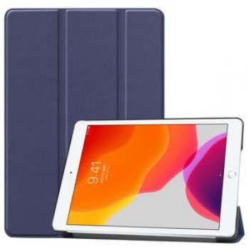 Чехол Custer Texture Three-folding Sleep/Wake-up на iPad 7 10.2 (2019) Темно-синий