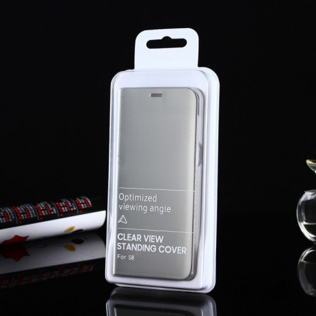 Чехол- книжка Samsung Clear View Standing Cover OEM на Samsung Galaxy S8/G950 Electroplating Mirror(Silver)