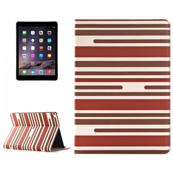 Чехол Stripes Pattern Dark Red для iPad Air 2