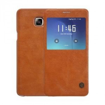 Кожаный Чехол Книжка Nillkin QIN Series Brown для Samsung Galaxy Note 5 / N920