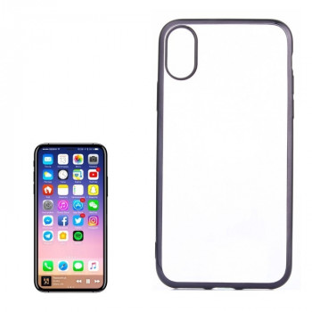 Чехол на iPhone X/Xs Electroplating Side черный