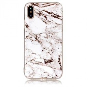 Чехол на iPhone X White Marble Pattern белый мрамор