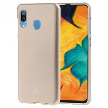 Чехол MERCURY GOOSPERY PEARL JELLY TPU Anti-fall на Samsung Galaxy A30-золотой