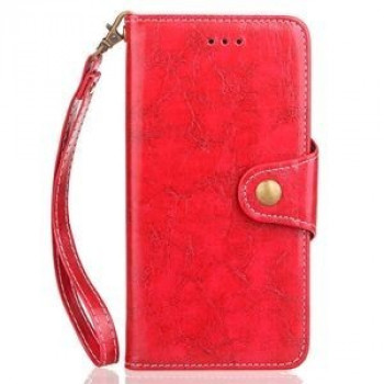Кожаный чехол- книжка на Samsung Galaxy S9+/G965 Retro Crazy Horse Texture Wax (Red)