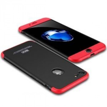 3D чехол GKK на iPhone 7/8  paragraph Shield 360 Degrees Full Coverage Protective  (Black + Red)