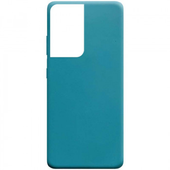 Силиконовый чехол Candy для Samsung Galaxy S21 Ultra - Powder Blue