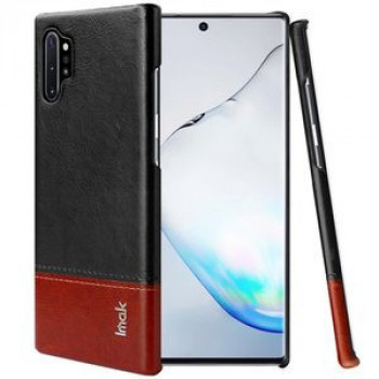 Чехол IMAK Ruiyi Series Concise Slim на Samsung Galaxy Note 10+ Plus- черно-бордовый