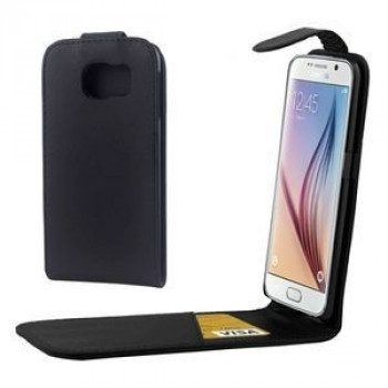 Кожаный флип чехол Colorful Vertical Flip Magnetic Button на Samsung Galaxy S6 / G920 (Black)