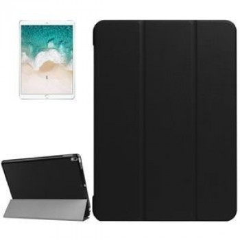 Кожаный Чехол Litchi Texture 3-folding Smart Case Black для iPad Pro 10.5