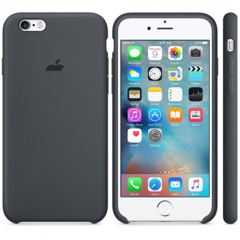 Силиконовый чехол Silicone Case Black на iPhone 6 Plus/6S Plus