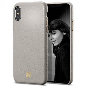 Оригинальный чехол Spigen La Manon Calin для iPhone XS Max Oatmeal Beige