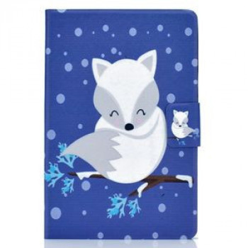 Чехол-книжка Colored Drawing на iPad 10.2 -Arctic Fox