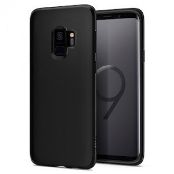 Оригинальный чехол Spigen Liquid Crystal на Samsung Galaxy S9 Matte Black