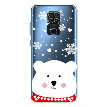Силиконовый чехол Christmas Series на Xiaomi Redmi 10X / Note 9 - Chubby White Bear